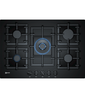 NEFF T27CS59S0 Piano Cottura A Gas In Vetro Temprato - 75 Cm | Piani cottura